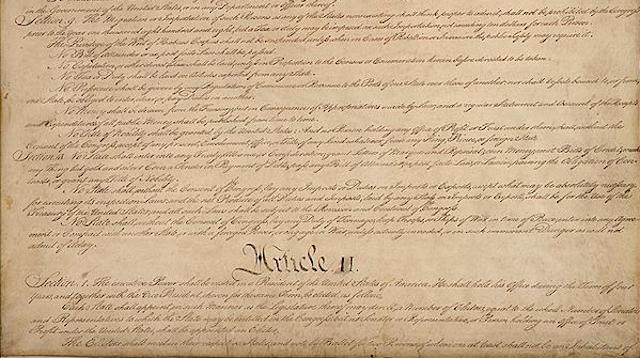 Article 2, Section 1 of the Constitution