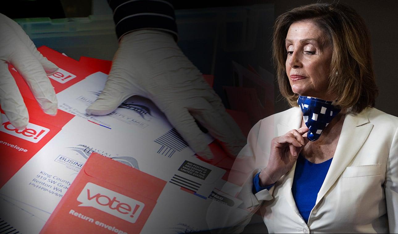 California's Speaker Pelosi drops her mask